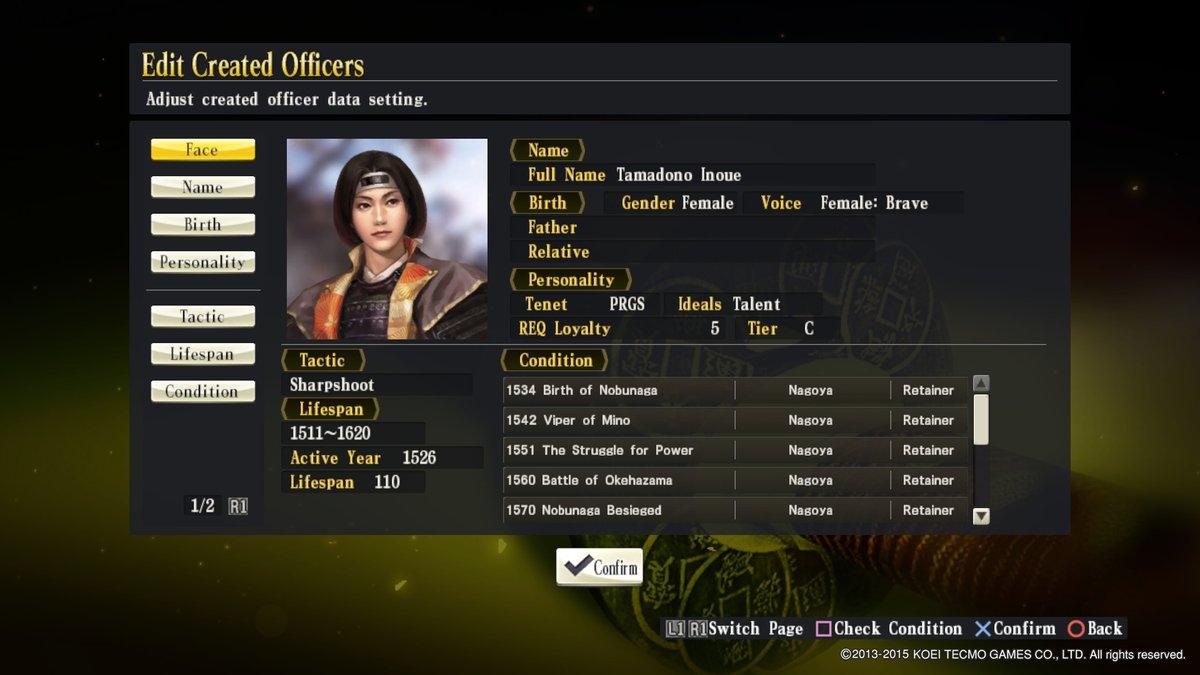 inoue Tamadono Created Character