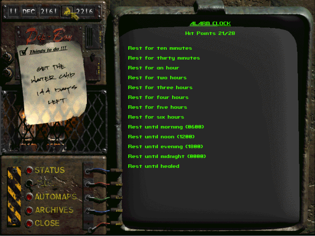 waiting in fallout1
