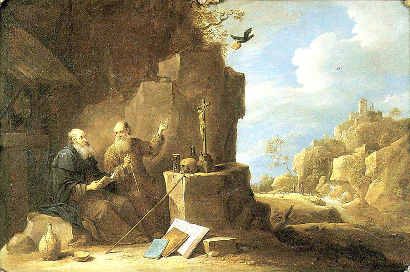 David_Teniers_-_Saint_Anthony_abbot_meets_Saint_Paul_the_hermit